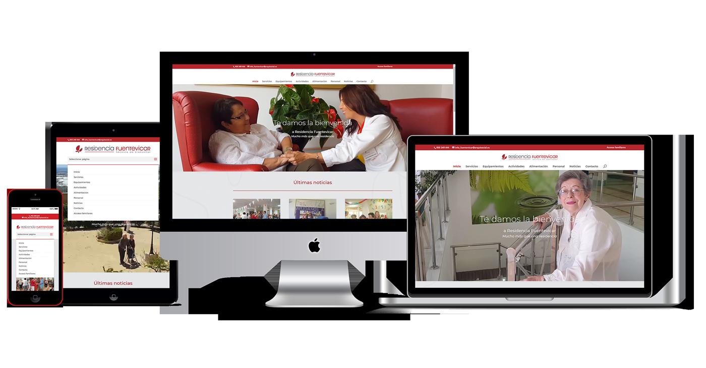 Portfolio Web residenciafuentevicar.es